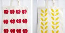 Tote bags / Idées de customisation de sacs en tissu