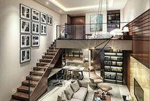 Interiores de casas / Casas lindas, modernas e organizadas, entre o sofisticado e o simples, o calmo e o maníaco.