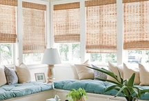 Furnishings: Bamboo blinds / I keep spotting images with bamboo blinds and there is something about them that I just love. I think most of the properties are in the American south - 'Southern Style' as they say there.