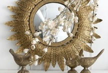 Display: Sunburst mirrors / I've developed a craving for a sunburst mirror.... / by Sharon Kearney