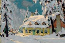Canadian Art / Canadian paintings by Group of Seven, Canadian and Quebecois Artists.