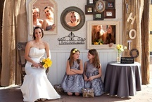 Our Wedding  / My youngest daughters wedding, gray and yellow. with a vintage shabby chic theme
