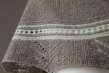 Knitted Shawls/Stoles, Wraps and Ponchos