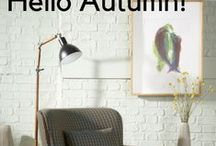 Hello Autumn! | Furnish Your Home / Hello Autumn! It's time to swap picnics and beer gardens for cosy nights in. Kit your home out in our range of warm, autumnal colours in time for the foggy mornings and chilly evenings...
