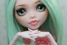"""Куклы - """"Головастики"""" / Красивые постановочные фото разных кукол с большими головами, в том числе и дизайнерских."""
