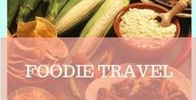 FOODIE TRAVEL / We love Food! And a bog part of traveling is trying out all the delicious dishes, meals, desserts and fuits the beautiful places around the earth have to offer.
