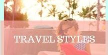 TRAVEL STYLES / Find out about the best beach looks, travel looks, hairstyles, bikinis, swimsuits and city looks for your next trip!