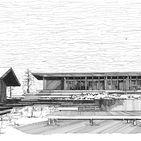 Etosoto Cabo Espichel Architecture project / Perspective et dessin draw projet Cabo Espichel Formentera