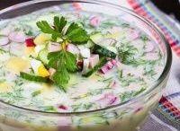 окрошки холодные супы