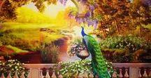 Morskay10. НАШ ДОМ / Декор нашего дома: роспись предметов быта, стен, потолков, стекол и т.д.