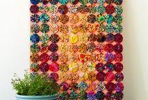 Fabric yo-yo projects / Fabric yo-yo's used in quilts.