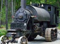 Старые паровозы, локомобили и тракторы