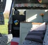 Sally - individual and stylish campervan for hire / THE DETAILS ARE IN THE DESIGN   Individually hand-crafted campervan for hire. You will know this has been made with love! Sally is a spacious van that will easily accommodate a family or a couple travelling with their outdoor things. There's room for two adults, an optional bunk bed for two children (the 2nd row of seats are optional as well and the space could be used for bike storage or such like) and there's even space for a small standalone cot. 