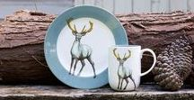 Faunus / Named after the Roman god of the forest, Faunus is a collection of casual everyday ceramics by Jersey Pottery, featuring iconic creatures from the wilderness. Made from durable bone china.