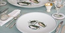 Seaflower / Seaflower by Jersey Pottery brings together Jersey and North America to create a unique collection of fine porcelain dinner plates, platters, bowls and mugs decorated with animated images of fish and shellfish.