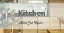 Kitchen Make You Happy / Find dream kitchen design decorating ideas here. Make your cooking time in kitchen very happy :)