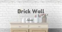 Brick Wall Ideas / Ideas for your room with brick wall :)