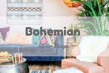 Bohemian Interior Design / Inspirational spaces with a bohemian vibe! Here, more is more and color is everything! - bohemian bedroom, bohemian style, bohemian living room, bohemian interior design, bohemian house inspiration