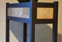 Potager surélevé acier/pierre naturelle / Ombrage & jardinières du Léman Fabrication artisanale sur mesure de jardinières, caisses d'orangerie, potagers suélevés, potagers su pieds, balconnières