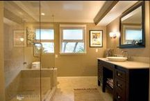 Bathroom Design 2 / Our contemporary bathroom with eclectic finishes.