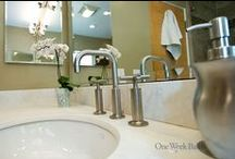 Bathroom Design 16 / Our spacious transitional style design with neutral colors.