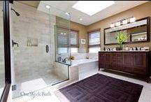Bathroom Design 86 / A traditional style bathroom with walk in shower.