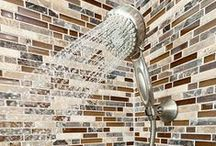 Bathroom Design 97 / A transitional style bathroom remodel with a mosaic tile shower.
