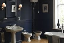 Blue Bathrooms / Blue bathrooms run the gamut from sky blue, navy, royal blue and even teal.