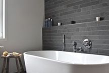 Gray Bathrooms / Cool and elegant, gray bathrooms are a popular choice.