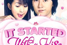 It started with a kiss / AMAZING AF Taiwanese drama (2005-2006) 30 episodes Ariel lin and joe Cheng are my new fave actors pls subscribe to Tya tya for full episodes she is amazing and sequel they kiss again (2007-2008) 20 episodes 恶作剧 practical joke best song ever <3 the soundtrack to this drama series is the BEST