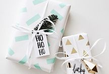 Gift wrapping and embellishments / I have a love hate relationship with wrapping gifts...