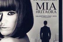 Rita Ora- 50 Shades / Rita Ora as a blond in style/ & in black bob in film.
