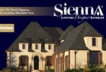 "Sienna™ / Sienna™ Lifetime Designer Shingles ""A classic design offering Old World elegance —  at an incredibly affordable price."""