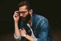 Men's Fall Fashion / Beards, blazers, scarves and don't forget the glasses.