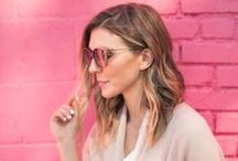 Shades of Pink / Pink frames are so hot right now.