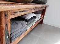 Altholz im Badezimmer / Waschtische und Bad Design