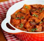 CARNES / Receitas de carne como ingrediente principal.