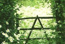 ✿❀ Doorways & Gateways ✿❀ / Doorways, Gate, Countryside, paths, footpaths, country life, farm, farm gate, garden gate, English landscapes, front door, painted door, narrow gate
