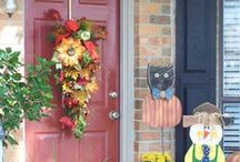 Fall Decor ideas by Show Me Decorating / Fall decorations from Show Me Decorating from the front door to the table.