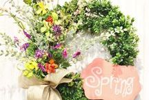 """Spring by Show Me Decorating / Decorating for Spring, Wreathes, Floral, Doorways, Banners and more! We supply the ingredients and the""""Show You How"""" - you put it together"""