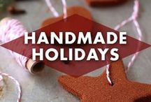 Handmade Holidays / Pull out the scissors and glue, the holidays are a-coming! One of the delightful parts of the cooler months is to get crafting! Family craft night ideas to keep everyone happy! / by Earmark Social Bridgette S.B.