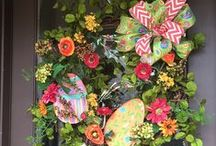 Easter by Show Me Decorating / Easter Decorations from wreaths to tabletops to doorways and more with all the DIY you need to create it at home