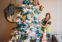 Christmas Trees-Colors of the Caribbean Theme by Show Me Decorating / Christmas Tree Theme-Christmas green dives in to the sea of turquoise waters, for a contemporary blend of a Holiday getaway. Shimmering ribbons and glistening florals go from crystal sky blue, twinkling turquoise and sail into the deep blue.