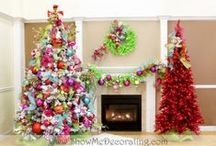 Christmas Trees-Christmas Confection Theme by Show Me Decorating / Christmas Tree Decorating Theme-Christmas Confection-Chef Santa serves up sweet treats of colorful concoctions from cupcakes to lollipops! Glittered ribbon adds an extra sweet touch and don't forget to sprinkle in the multicolored candy polka dot balls!