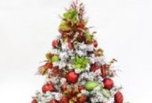 Christmas Trees-Christmas Punch Theme by Show Me Decorating / Christmas Tree Theme-Christmas Punch-Stir in some sophistication & energy to a Christmas classic red and green tree theme with a punch of lime green. Playful polka dots and swirls of glitz and glitter will contrast and liven up your tree.