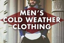 Cold-Weather Clothing for Men / Jackets, scarves, boots! A selection of fine men's cold weather clothing. / by Earmark Social Bridgette S.B.