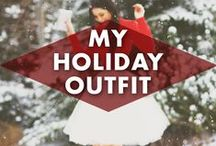 My Holiday Outfit / Holiday clothing! Be it fancy, classic or comfy we all need to wear something to the holiday gatherings coming up... right?! #myholidayoutfit #womensfashion #christmasclothing