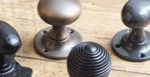 Door Knobs / A selection of handmade door knobs from British Ironmongery. Browse Victorian door knobs, Edwardian door knobs and contemporary door knobs in a range of styles and finishes. Each door knob shown is individually finished by hand and are available  in many different finishes and metals, including - brass, chrome, nickel, wrought and iron and real bronze.
