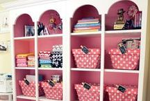 DECOR CRAFT ROOM / ideas for new craft room - decoration ideas - organizing for the room / by Crafty Grandma