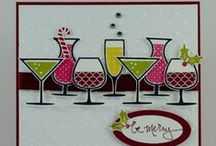 Cheers! Cards / Card set from Stampin' Up! With cocktail glasses and more.  / by Elizabeth Schwerm